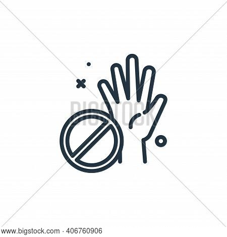 No touch icon isolated on white background from virus restrictions collection. No touch icon thin li