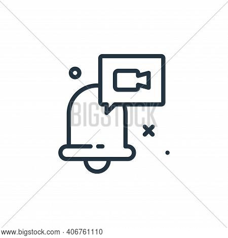 notification icon isolated on white background from work from home collection. notification icon thi