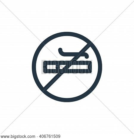 no smoking icon isolated on white background from health collection. no smoking icon thin line outli