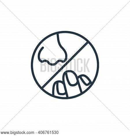 nose icon isolated on white background from stop virus collection. nose icon thin line outline linea