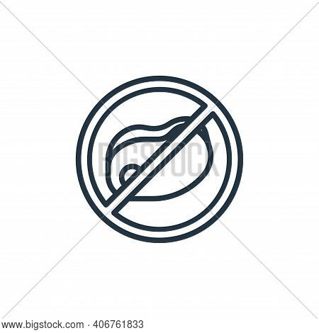 no meat icon isolated on white background from coronavirus collection. no meat icon thin line outlin