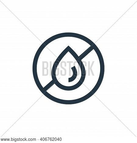 no fat icon isolated on white background from nutrition collection. no fat icon thin line outline li