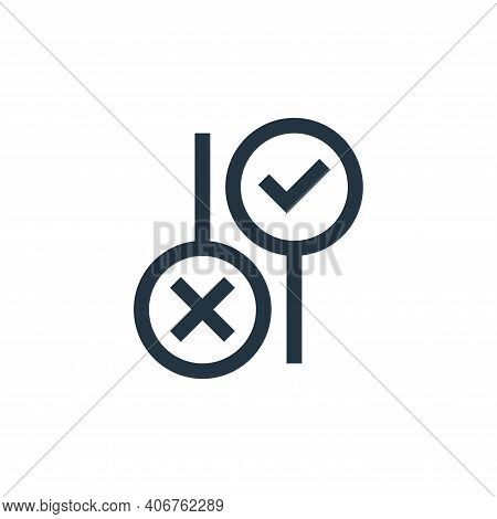 No icon isolated on white background from feedback and testimonials collection. No icon thin line ou