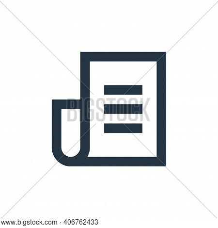 newspaper icon isolated on white background from user interface collection. newspaper icon thin line