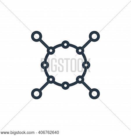 networking icon isolated on white background from business collection. networking icon thin line out