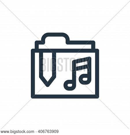 music folder icon isolated on white background from music collection. music folder icon thin line ou