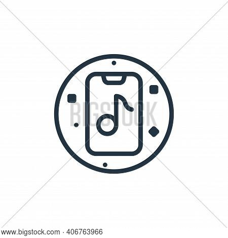 music app icon isolated on white background from music and sound collection. music app icon thin lin