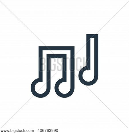 musical note icon isolated on white background from mental health collection. musical note icon thin
