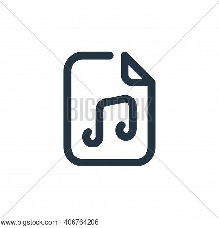 music icon isolated on white background from sound collection. music icon thin line outline linear m