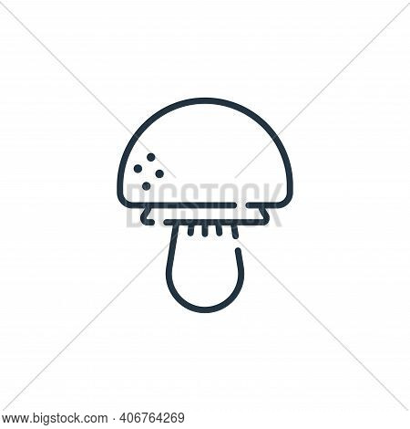 mushroom icon isolated on white background from allergies collection. mushroom icon thin line outlin