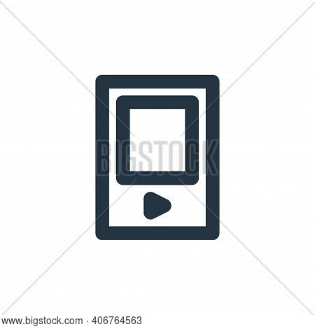 mp player icon isolated on white background from electronics collection. mp player icon thin line ou