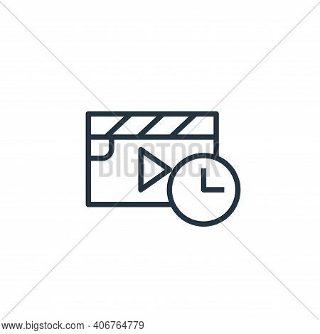 movie icon isolated on white background from stay at home collection. movie icon thin line outline l