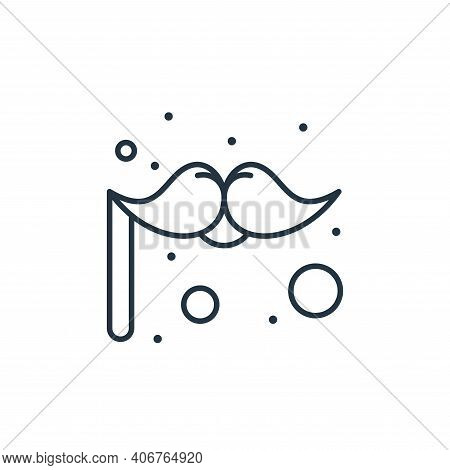 moustache icon isolated on white background from brazilian carnival collection. moustache icon thin