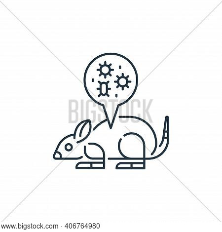 mouse icon isolated on white background from virus transmission collection. mouse icon thin line out