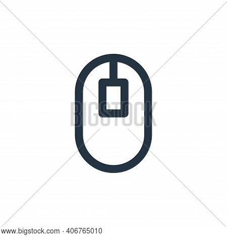mouse icon isolated on white background from computer hardware collection. mouse icon thin line outl