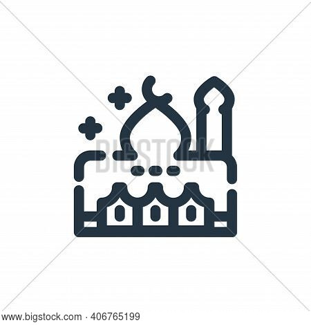 mosque icon isolated on white background from ramadan kareem collection. mosque icon thin line outli