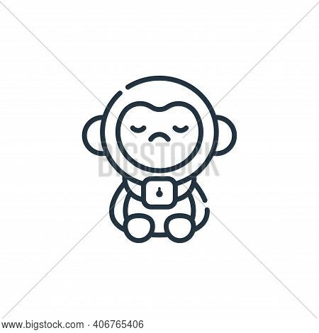 monkey icon isolated on white background from animal welfare collection. monkey icon thin line outli