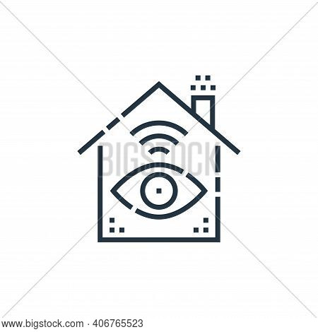 monitor icon isolated on white background from smarthome collection. monitor icon thin line outline