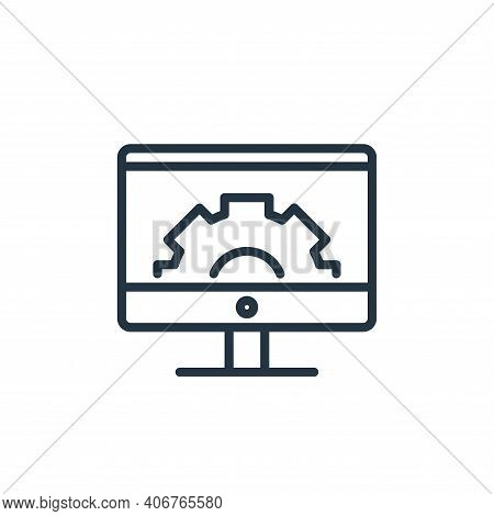 monitor icon isolated on white background from engineering collection. monitor icon thin line outlin