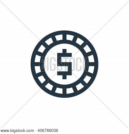 money icon isolated on white background from insurance collection. money icon thin line outline line