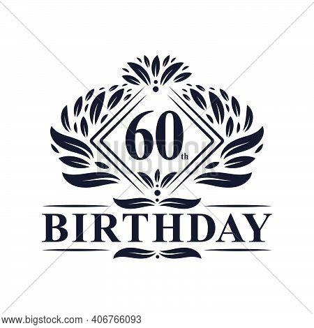 60 Years Birthday Logo, Luxury 60th Birthday Celebration.