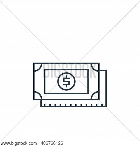 money icon isolated on white background from online shopping collection. money icon thin line outlin