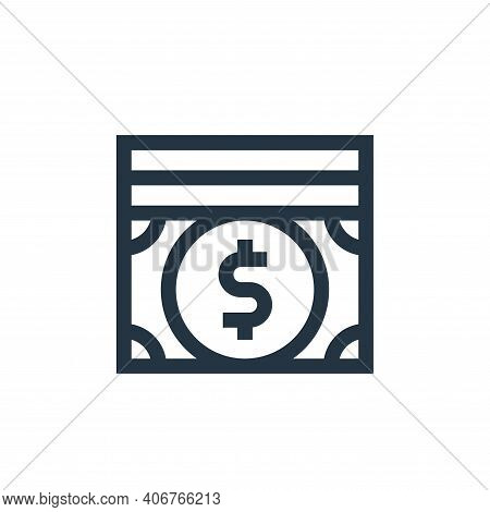 money icon isolated on white background from charity collection. money icon thin line outline linear