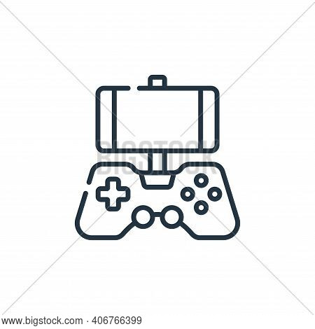 mobile game icon isolated on white background from videogame collection. mobile game icon thin line