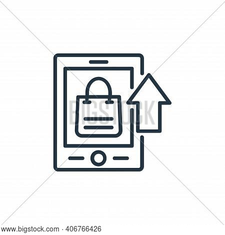 mobile app icon isolated on white background from shopping line icons collection. mobile app icon th