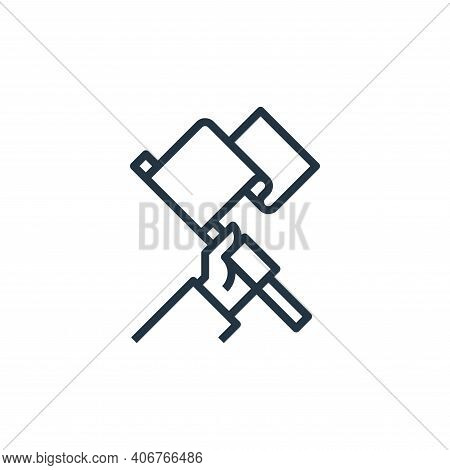 mission icon isolated on white background from branding collection. mission icon thin line outline l