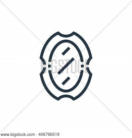 mirror icon isolated on white background from inside home collection. mirror icon thin line outline