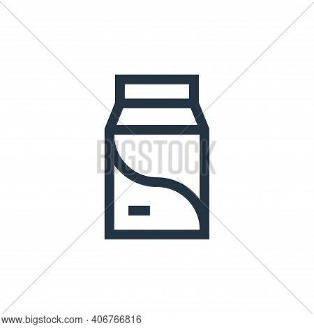 milk icon isolated on white background from pet shop collection. milk icon thin line outline linear