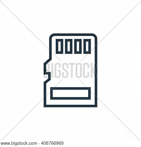micro sd icon isolated on white background from hardware collection. micro sd icon thin line outline