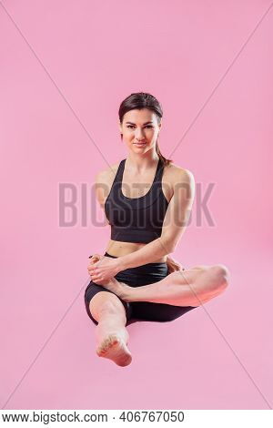 Faster And Stronger. Stretching And Warm-up Sportswoman Doing Special Exercises For Muscles. Fitness