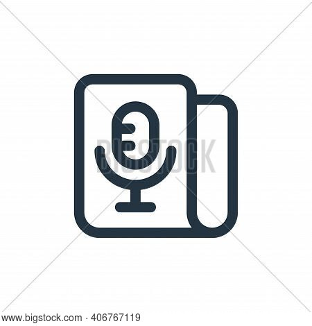 microphone icon isolated on white background from web apps seo collection. microphone icon thin line