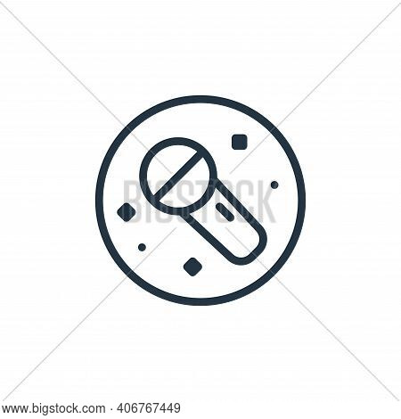 microphone icon isolated on white background from music and sound collection. microphone icon thin l