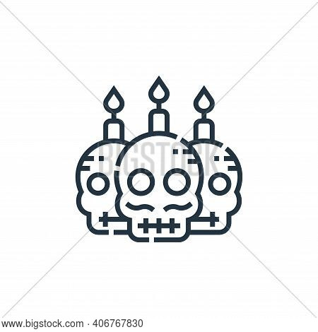 mexican icon isolated on white background from cinco de mayo collection. mexican icon thin line outl