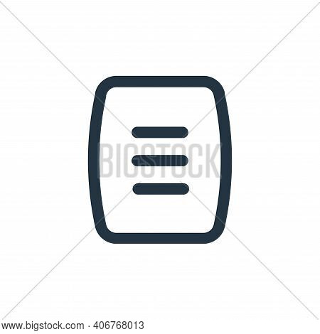 menu icon isolated on white background from device collection. menu icon thin line outline linear me