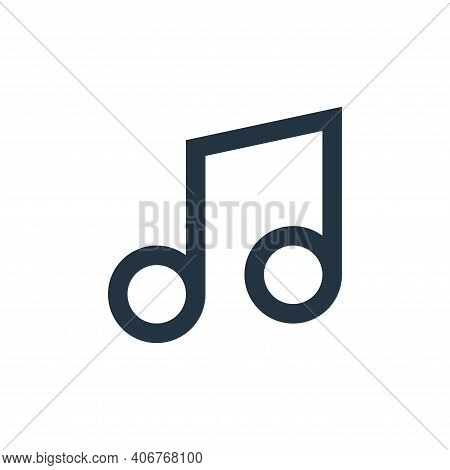 melody icon isolated on white background from user interface collection. melody icon thin line outli