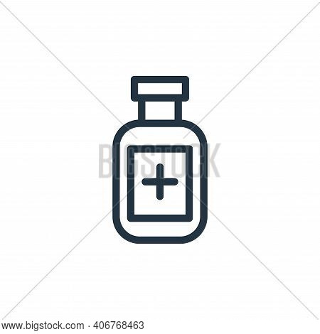 medicine icon isolated on white background from coronavirus collection. medicine icon thin line outl
