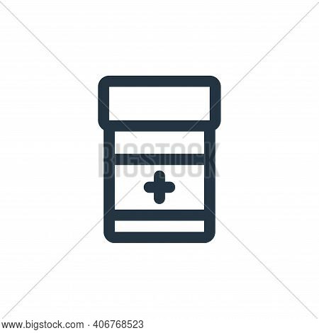 medicine icon isolated on white background from virus transmission collection. medicine icon thin li