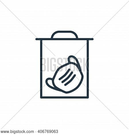 medical mask icon isolated on white background from stop virus collection. medical mask icon thin li
