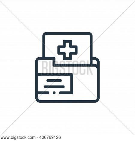 medical folder icon isolated on white background from medicine collection. medical folder icon thin