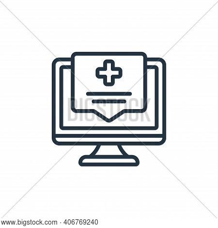 medical assistance icon isolated on white background from self isolation collection. medical assista