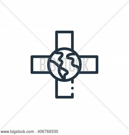 medical icon isolated on white background from world love collection. medical icon thin line outline