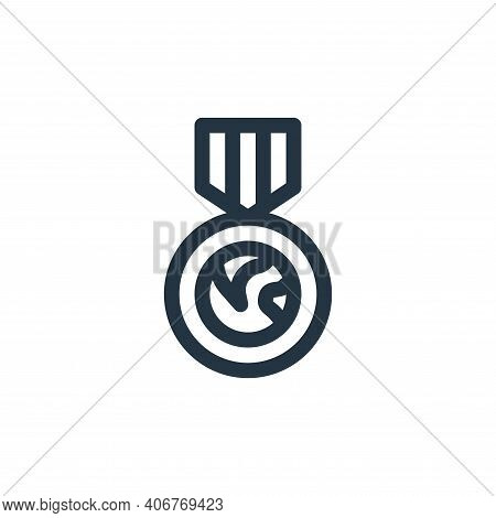 medal icon isolated on white background from world love collection. medal icon thin line outline lin