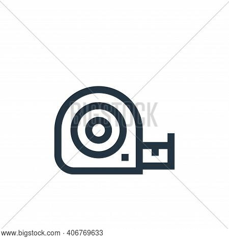 measure tape icon isolated on white background from electrician tools and elements collection. measu