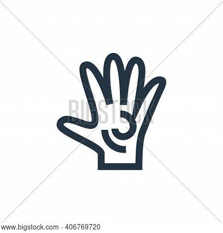 massage icon isolated on white background from alternative medicine collection. massage icon thin li