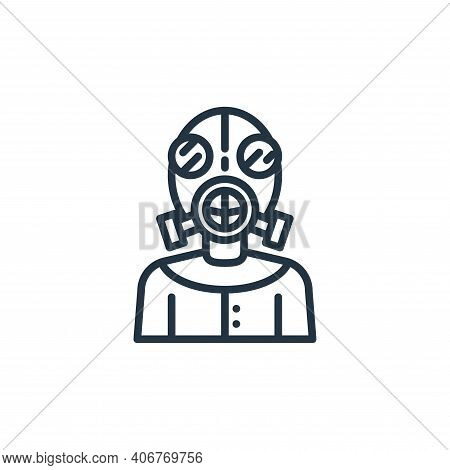 mask icon isolated on white background from virus collection. mask icon thin line outline linear mas