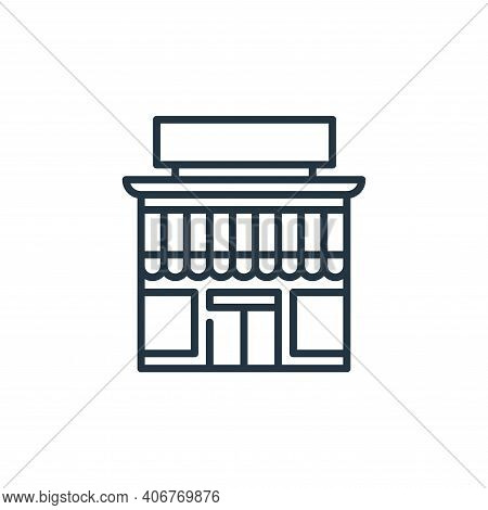 market icon isolated on white background from management collection. market icon thin line outline l